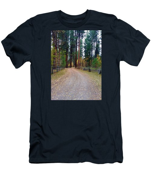 Follow The Road Less Traveled Men's T-Shirt (Athletic Fit)