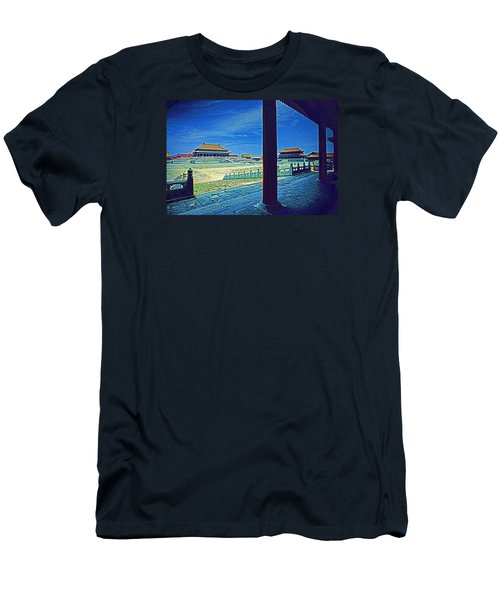 Men's T-Shirt (Slim Fit) featuring the photograph Forbidden City Porch by Dennis Cox ChinaStock