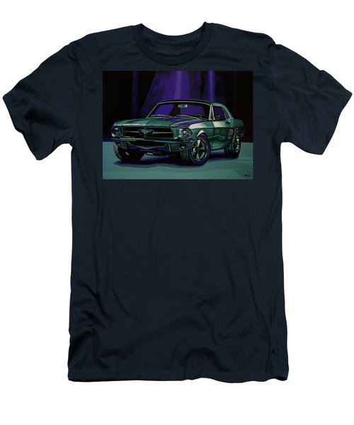 Ford Mustang 1967 Painting Men's T-Shirt (Athletic Fit)