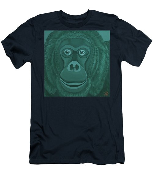Forest Green Orangutan Men's T-Shirt (Athletic Fit)