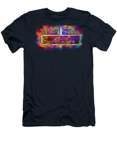 Forgive Brick Blue Tshirt Men's T-Shirt (Slim Fit) by Tamara Kulish