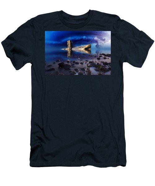 Forgotten In No Man's Land Men's T-Shirt (Slim Fit) by Gabriella Weninger - David