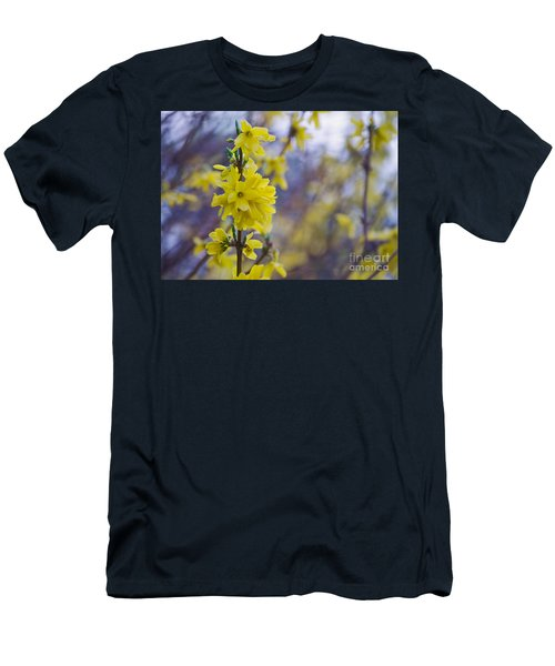 Men's T-Shirt (Slim Fit) featuring the photograph Forsythia by Rima Biswas
