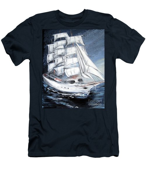 Fortunate. Sailing Ship Men's T-Shirt (Athletic Fit)