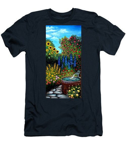 Fountain Of Flowers Men's T-Shirt (Athletic Fit)