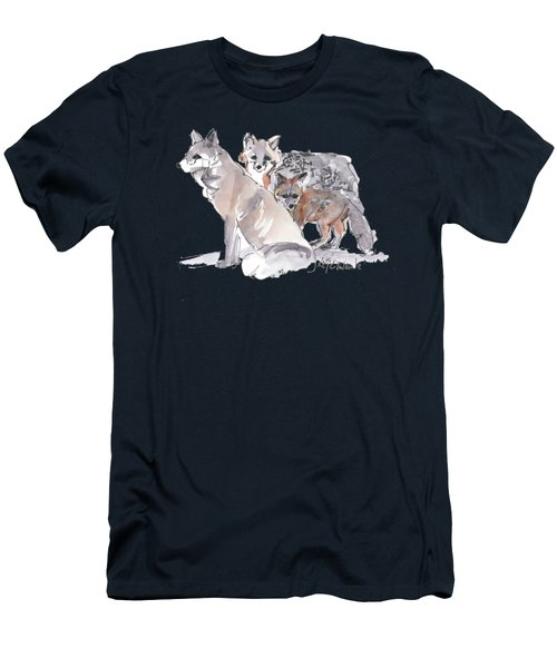 Fox Family Of Three Men's T-Shirt (Athletic Fit)