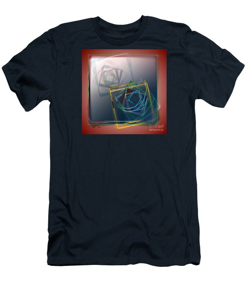 Men's T-Shirt (Slim Fit) featuring the digital art Fragments Of Movement by Leo Symon