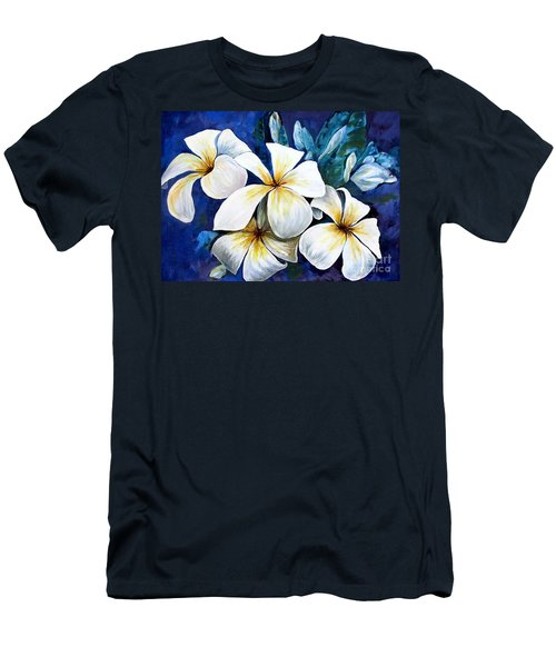 Men's T-Shirt (Athletic Fit) featuring the painting Frangipani by Ryn Shell