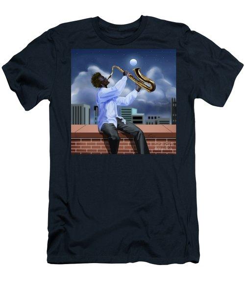 Free Jazz Moon Men's T-Shirt (Athletic Fit)