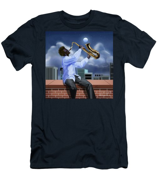 Free Jazz Moon Men's T-Shirt (Athletic Fit)