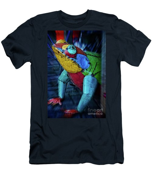 Men's T-Shirt (Slim Fit) featuring the photograph Frog Prince by Mary Machare