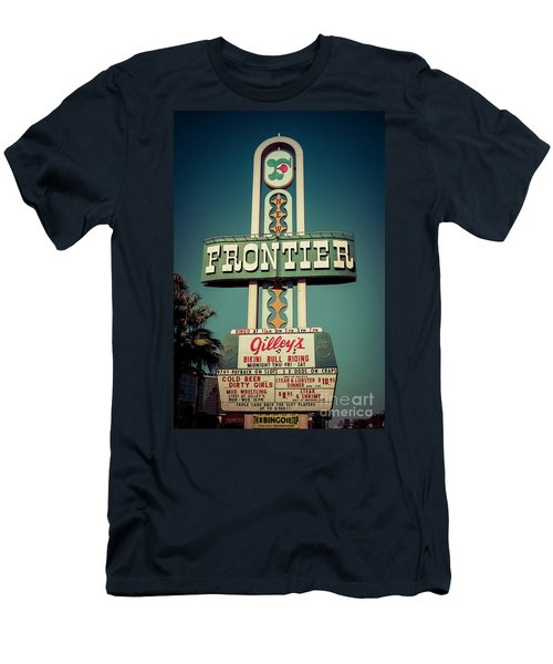 Frontier Hotel Sign, Las Vegas Men's T-Shirt (Athletic Fit)