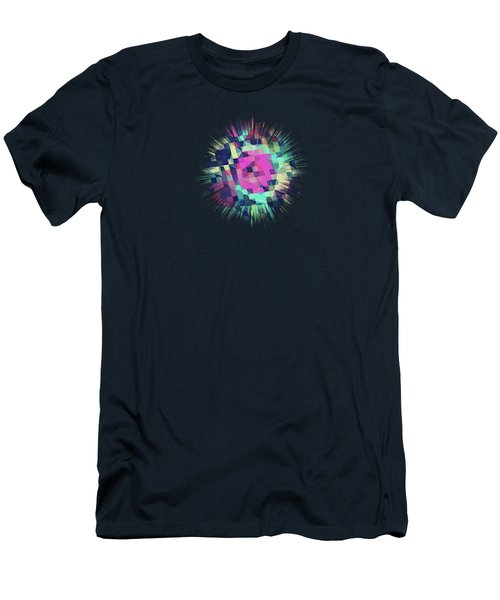 Fruity Rose   Fancy Colorful Abstraction Pattern Design  Green Pink Blue  Men's T-Shirt (Athletic Fit)