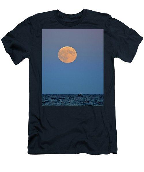 Full Blood Moon Men's T-Shirt (Slim Fit) by Nancy Landry