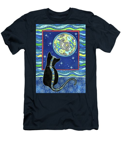 Pisces Cat Zodiac - Full Moon Men's T-Shirt (Athletic Fit)