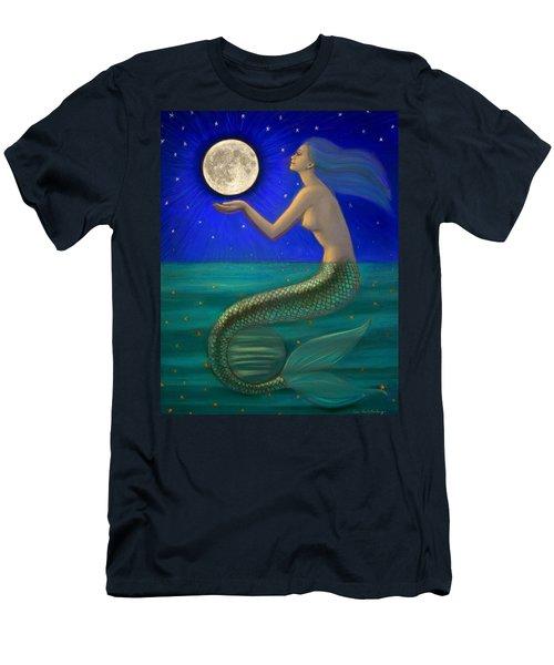 Full Moon Mermaid Men's T-Shirt (Slim Fit) by Sue Halstenberg