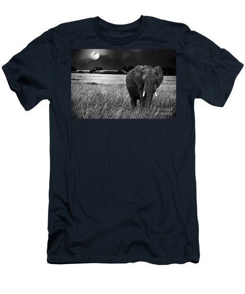Full Moon Night Men's T-Shirt (Athletic Fit)