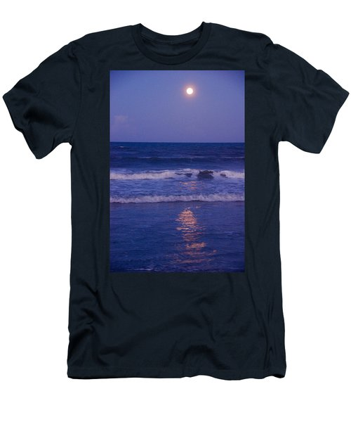 Full Moon Over The Ocean Men's T-Shirt (Athletic Fit)