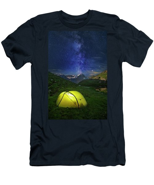 Galactic Eruption Men's T-Shirt (Athletic Fit)