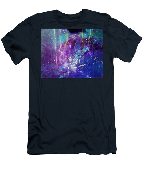 Galaxy In Motion Men's T-Shirt (Athletic Fit)