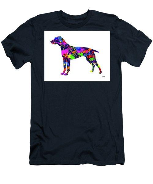German Shorthaired Pointer Paint Splatter Men's T-Shirt (Athletic Fit)