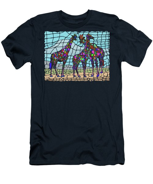 Giraffe Maze Men's T-Shirt (Athletic Fit)