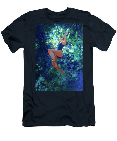 Girl On A Rope Men's T-Shirt (Athletic Fit)