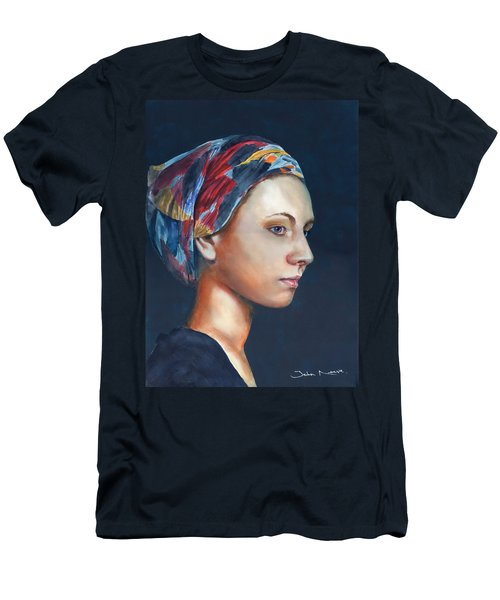 Girl With Headscarf Men's T-Shirt (Athletic Fit)