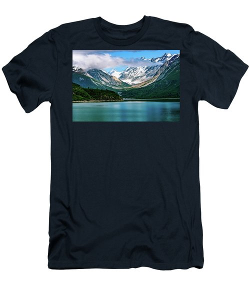 Men's T-Shirt (Athletic Fit) featuring the photograph Glacial Valley by John Hight