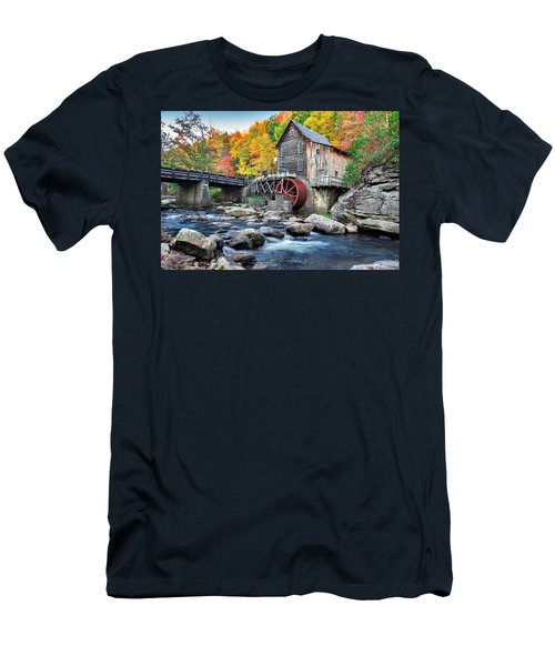 Glade Creek Grist Mill Men's T-Shirt (Slim Fit) by Mary Almond