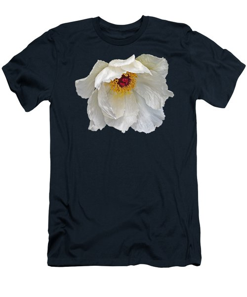 Glamorous White Tree Peony Men's T-Shirt (Athletic Fit)