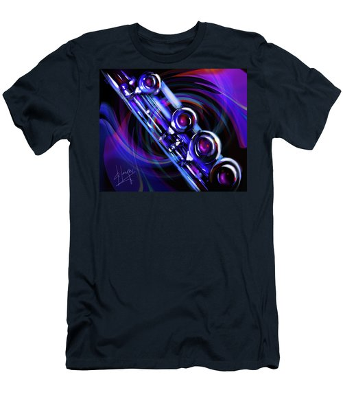 Men's T-Shirt (Slim Fit) featuring the painting Glassical Flute by DC Langer