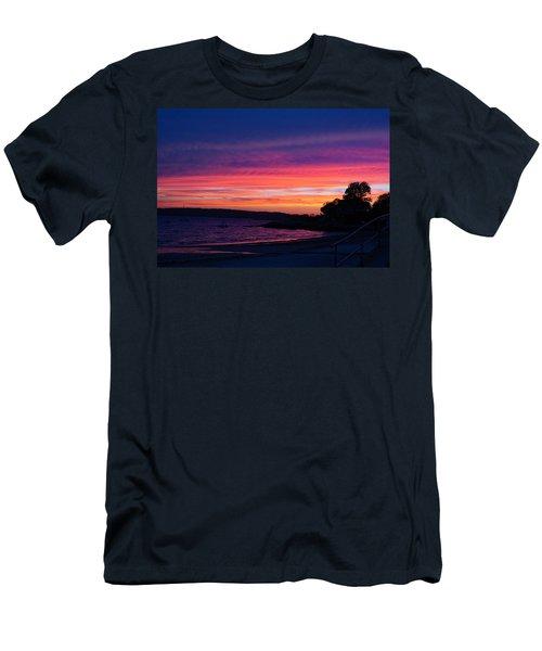 Gloucester Harbor Beach Men's T-Shirt (Athletic Fit)