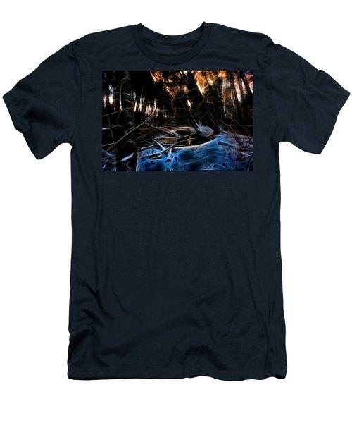 Men's T-Shirt (Slim Fit) featuring the photograph Glow River by Michaela Preston