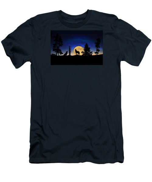 Men's T-Shirt (Athletic Fit) featuring the photograph Glowing Horizon by Shane Bechler