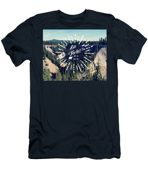 Men's T-Shirt (Slim Fit) featuring the photograph Go Forth by Robin Dickinson