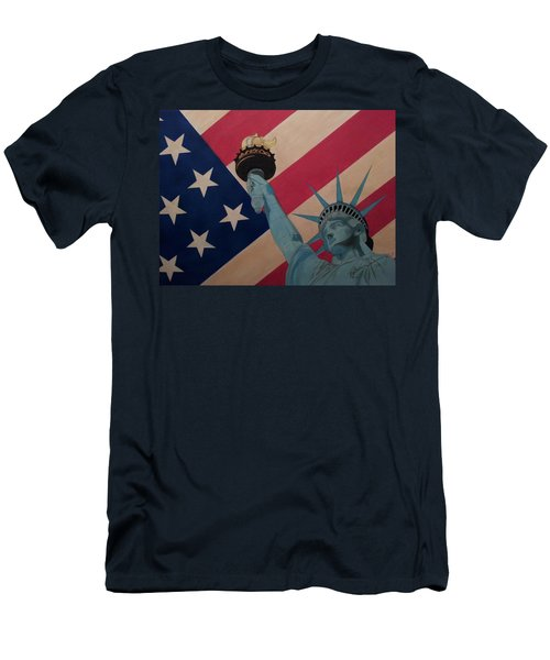God Bless The Usa Men's T-Shirt (Athletic Fit)