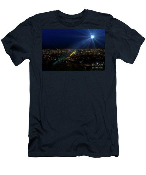 God Loves Cuenca Men's T-Shirt (Slim Fit) by Al Bourassa