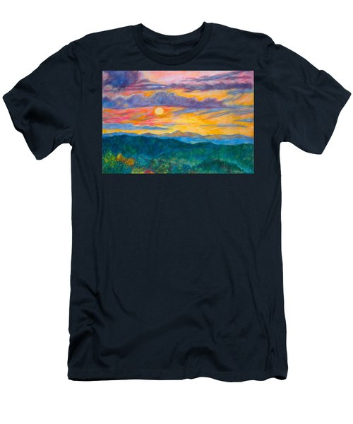 Golden Blue Ridge Sunset Men's T-Shirt (Athletic Fit)