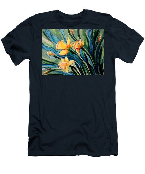 Golden Daffodils Men's T-Shirt (Athletic Fit)