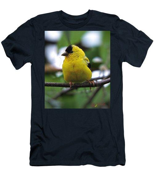 Men's T-Shirt (Slim Fit) featuring the digital art Goldfinch by John Selmer Sr