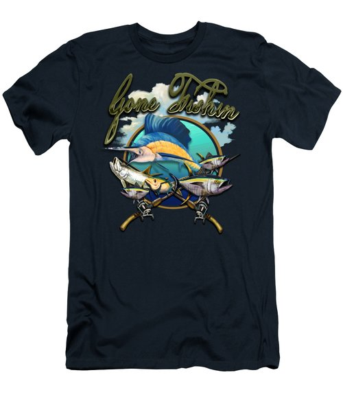 Gone Fishin Men's T-Shirt (Athletic Fit)