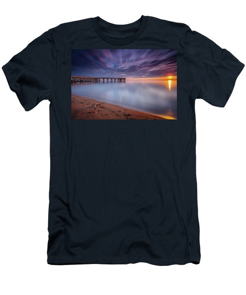 Men's T-Shirt (Slim Fit) featuring the photograph good morning Mr. Sun   by Edward Kreis
