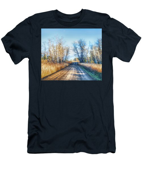 Men's T-Shirt (Slim Fit) featuring the photograph Goose Lake Road by Theresa Tahara