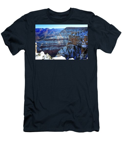 Grand Canyon National Park In Winter Men's T-Shirt (Athletic Fit)