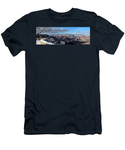 Grand Canyon Winter Vista Men's T-Shirt (Athletic Fit)