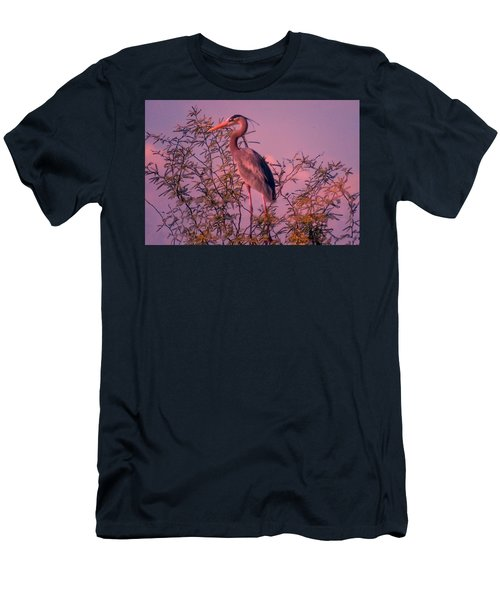 Great Blue Heron - Artistic 6 Men's T-Shirt (Athletic Fit)