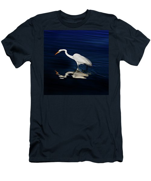 Great Egret-self Reflections Men's T-Shirt (Athletic Fit)