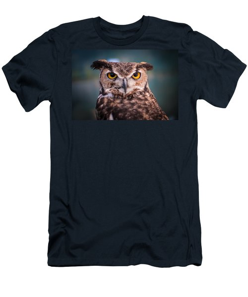 Great Horned Owl Men's T-Shirt (Slim Fit) by Ralph Vazquez