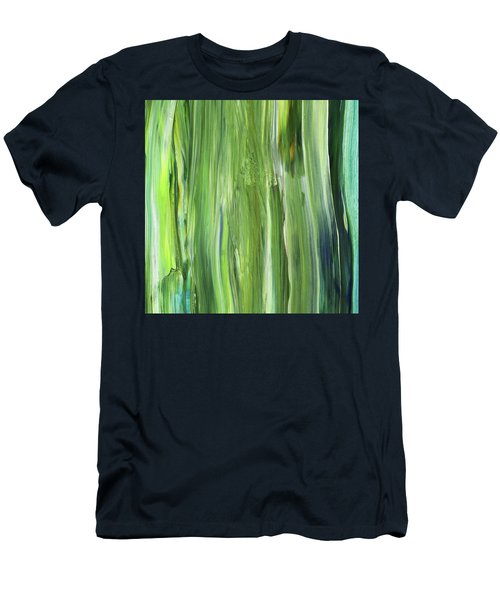 Green Blue Organic Abstract Art For Interior Decor Iv Men's T-Shirt (Athletic Fit)